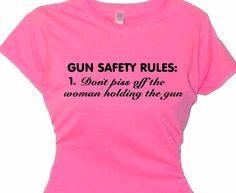 Gun hobby T Shirt, Gun Training Apparel, Women's Self Defense Training,  Self Defense T-Shirt by flirtydivatees. Explore more products on http://flirtydivatees.etsy.com