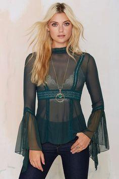 Nasty Gal Katarina Mesh Blouse | Shop Clothes at Nasty Gal!