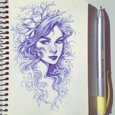 Quick ballpoint sketch from this morning . . . _____________ #roughsketch #quicksketch #warmupsketch #ballpointpenart #floralfeb #sketchbook #penandink #inksketch #traditionalart #drawingpen #inkdrawing #fantasyartist #365daysofart #pendrawing #artistsofinstagram #ballpointpen #fantasycharacter #drawing #quickdrawing #sketcheveryday #draweveryday #doodletime #artistcommunity #draweverywhere #sketchbreak #pensketch #fantasyart