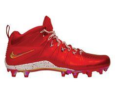#LacrosseUnlimited #Nike Huarache 4 LE Cleats- Red Chrome