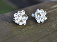 Handmade Silver Earrings 925 Sterling Causeway Stud earrings