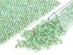 Green Pastel 15/0 Designer Seed Bead Blend