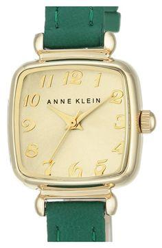6952d578883 Anne Klein Leather Strap Watch