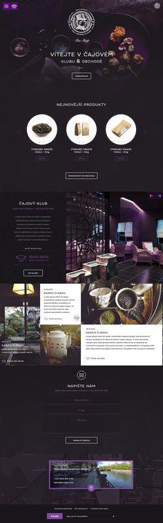 Mr.Dao Tea Lounge & Shop. Most exotic tea web design. #webdesign #design #tea