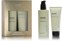 Here is a stocking stuffer idea!  This winter keep your skin looking young and fresh, with the most popular AHAVA moisturizers. This holiday gift set duo keep hands and body hydrated, smooth and as radiant as a star.  The AHAVA Holiday Gift Set: -Body Lotion 8.5 fl.oz -Hand Cream 3.4 fl.oz  $ 28.00