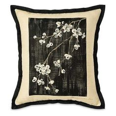 Hanami Hand-Painted Accent Pillow by PoshTots $73