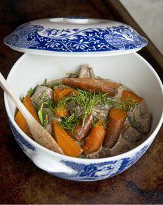 Dillkött i Crock Pot Swedish Chef, Lchf, Pot Roast, Slow Cooker Recipes, Food Porn, Treats, Vegetables, Crock Pot, Ethnic Recipes