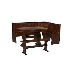 Essential Home Emily Breakfast Nook- Walnut 1