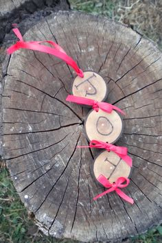 Reclaimed Wood 'Joy' Christmas Ornament by Jennifer Brown www.etsy.com/shop/browncraftco