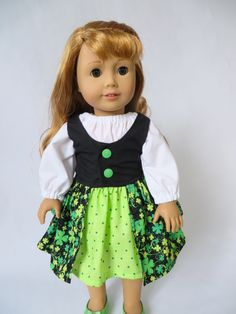 Make your own 18 inch doll clothes for American Girl and Our Generation dolls with easy PDF sewing patterns by OhSewKat! American Girl Crafts, American Doll Clothes, American Girls, Simple Dresses, Day Dresses, Flower Girl Dresses, Dress Girl, Doll Clothes Patterns, Doll Patterns