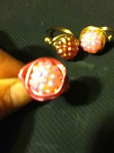 Wire wrapped rings..