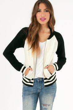 Corey Crochet Varsity Jacket #TOBI