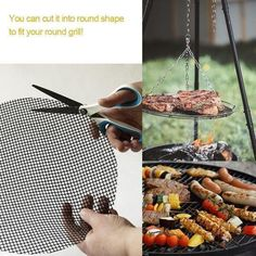 Non Stick Grill Mat x 3 pieces - LazyFry I Grill, Grill Grates, Kebabs, Bacon, Plastic Mat, Portable Grill, Gourmet Burgers, Barbecue, Grill Accessories