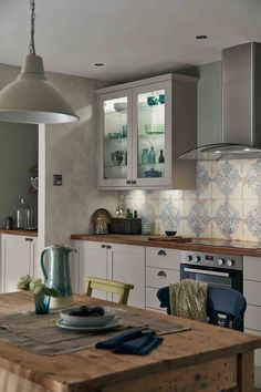 Combine different types of lighting to enhance each area.  Our in cabinet lighting makes the most of your display, whilst under unit lights ensure you have brightness where you need it.  Consider pendant lights over eating areas to give that cosy dining experience.