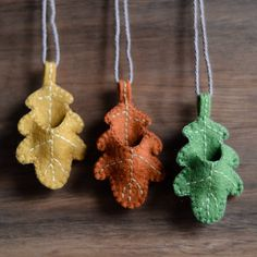Oak Leaf Necklace - For Poppet Baby Waldorf Crafts, Waldorf Dolls, Diy For Kids, Crafts For Kids, Arts And Crafts, Sewing Projects For Kids, Tiny Dolls, Silk Ribbon Embroidery, Felt Fabric