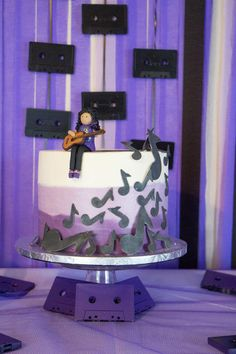 Musical Birthday Party via Karas Party Ideas: The Cake