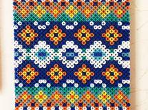 送料無料!アイロンビーズ 壁飾り インテリア 幾何学模様 アイロンビーズ パーラービーズ