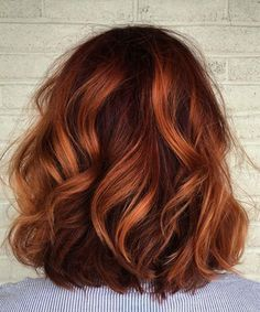 Beautiful Hair Color, Dyed Hair, Curly Hair Styles, Hair Makeup, Red Makeup, Makeup Inspo, Makeup Sets, Subtle Balayage, Auburn Balayage Copper