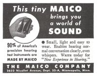 Maico Hearing Aid 1944 Ad Picture