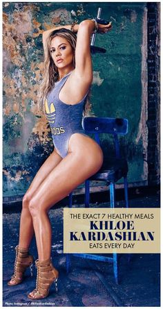 Have you seen Khloé Kardashian's revenge body? The 32-year-old looks better than ever these days! Read on to see the seven meals Kardashian eats per day to stay on top of her weight loss goals. Popculture.com #khloekardashian #kardashiandiet #diet #celebritydiet #fatloss #weightloss #cleaneating #mealplan