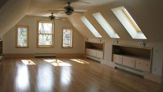 With good windows, the attic looks bigger