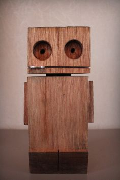 wooden robot by markvrinzen on Etsy, €24.00