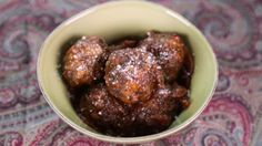 Neopolitan meatballs w/ red wine rosemary