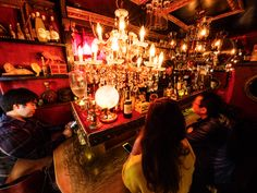 The alleyways at Golden Gai in Shinjuku are crammed with little bars of varied themes – perfect for a night of bar-hopping Time Out Tokyo, Ramen Bar, Shinjuku Tokyo, Alleyway, Red Walls, Cocktail Making, Cool Bars, Book Nooks