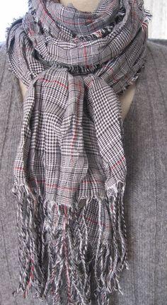 c644ec5443d Plaid grey red scarf Man Turkey Men scarves cotton 2014 scottish fashion  Turkish Scarf Mens Scarf