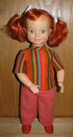 """VTG. 1971 IDEAL 16"""" PLAY' N JANE DOLL ORIGINAL OUTFIT"""
