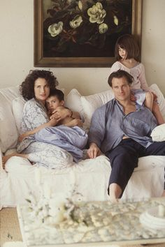 Andie MacDowell with Justin, Paul, and Rainey Qualley -Model Moms and their children