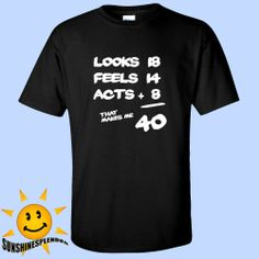 40th Birthday T Shirt Mens Black Tee Funny Tshirt Humor Novelty Bday 40 Party th #Hanes #GraphicTee