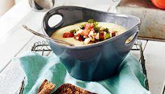 Peruna-maissikeitto ja tomaatti-pähkinähöystö - K-ruoka