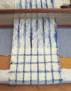 windowpane plaid- blue eyelash yarn?
