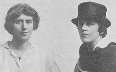 """Natalie Barney & Romaine Brooks met in 1915, aged 39 & 41. """"[They] were rich, American, eccentric, and grandly lesbian. They met in Paris... and their relationship lasted more than fifty years despite infidelity, separation, and temperamental differences. Told by Diana Souhami... """"Wild Girls"""" is the story of two audacious women and the world they inhabited,"""" says the Guardian (UK) review of the book."""