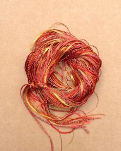 Hand Dyed Viscose Thread Selection Burnt by OliverTwistsFibres