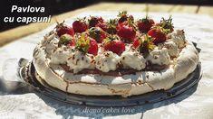 diana's cakes love: Pavlova cu capsuni, tort de bezea