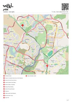 Map of Canberra