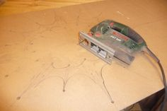 Just a simple jig saw and extra fine blade is required to make and cut out these rather delicate curvy lines.
