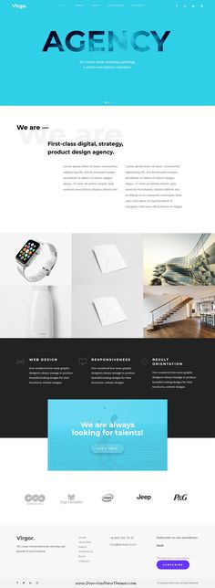 Virgo is clean and modern design responsive multipurpose #Drupal theme for creative #agency website 12+ niche homepage layouts to live preview & download click on Visit