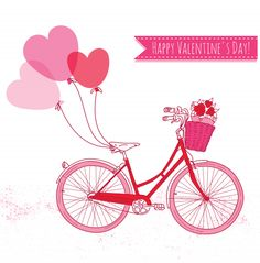 Bicycle Valentine's Day Card - KidsPressMagazine.com