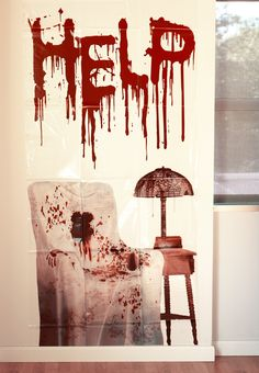 Bloody Help wall decal