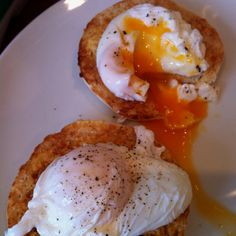 Poached Eggs and English Muffins
