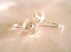Pale Pink Swarovski earrings by Vitrine, $20.00 http://www.vitrine.etsy.com