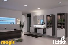 The Hettich Group is one of the world's leading manufacturers of furniture fittings. D Lighting, Bathroom Lighting, Lighting Design, Led Light Design, Aesthetic Value, Mirror, Furniture, Design Ideas, Wellness