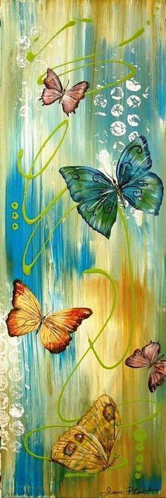 Butterfly Bliss 1 Painting by Jean Plout - Butterfly Bliss 1 Fine Art Prints and Posters for Sale Butterfly Painting, Butterfly Art, Canvas Art, Canvas Prints, Beautiful Butterflies, Painting Inspiration, Painting & Drawing, Art Projects, Fine Art Prints
