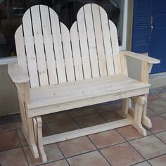 Free Woodworking Bench Plans | Adirondack Loveseat Glider Rocker Plans - Free Plans - Build an ...