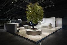 La Piazza installation by Aldo Cibic installation exhibition
