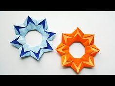 Frame Origami Flower Mirror Making Frame Making Mobile Making Leasing Origami Origami Ring, Origami Wreath, Origami Stars, Origami Flowers Tutorial, Flower Tutorial, Paper Art, Paper Crafts, Diy Crafts, Gato Origami