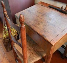 Primitive slant top desk